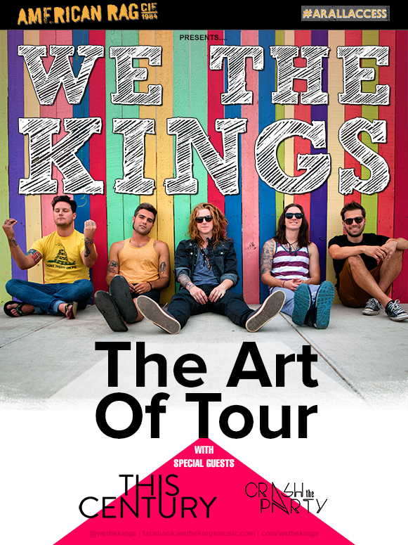 We The Kings - Art Of Tour with This Century & Crash The Party